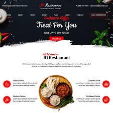 free restaurant joomla template by joomdev