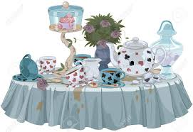 Tea Party Table by Wonderland Tea Party Decorated Table Royalty Free Cliparts