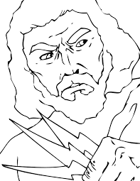 zeus coloring page handipoints