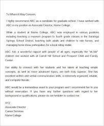 recommendation letter for student from employer best template