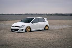 slammed volkswagen gti mk7 vw gti with the perfect stance and radi8 wheels u2013 tilson