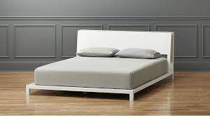 Bed And Frame Alpine White Bed Cb2