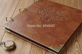 large leather photo albums new retro photo album high grade leather hot sting diy handmade