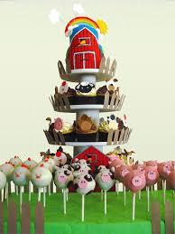farm animal cake cupcakes and cake pops