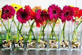 top wedding table flower centerpieces with fish bowl centerpieces