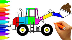 printable coloring pages to learn colors excavator coloring pages learn colors for kids construction