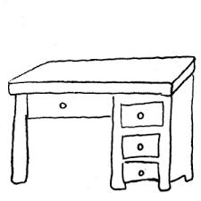 White Art Desk Desk Black And White Clipart Clip Art Library