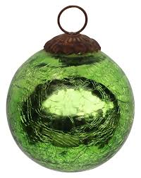 ornament hand blown christmas tree decoration ball u2013 lime green