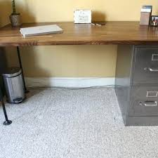 metal desk with file cabinet table top filing cabinet desk with refinished 2 drawer metal filing