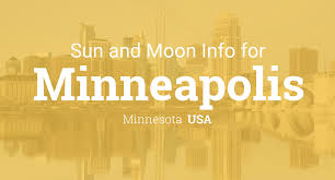 Minneapolis Map Usa by Sun U0026 Moon Times Today Minneapolis Minnesota Usa