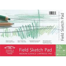 medium surface field sketch pad wire o 50 sheets winsor u0026 newton