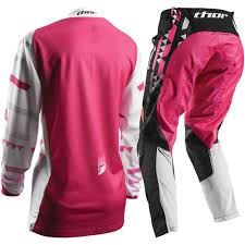 motocross womens gear thor 2017 mx new pulse facet jersey pants white pink womens