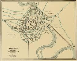 map of baghdad baghdad map of the city of mansur madina al mansur al