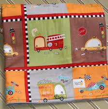 minky baby boy blanket fire truck and race cars c3 a2 c2 b7