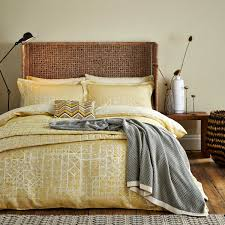 luxury gold jacquard duvet covers nara kingsize at bedeck 1951