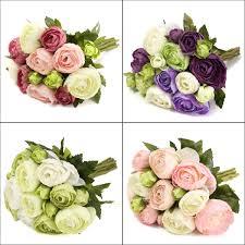 wedding home decoration 10 heads artificial silk flower camellia wedding bouquet party