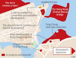 Zhuhai China Map by Lantau Reclamation Project For 40 000 New Homes Faces Funding