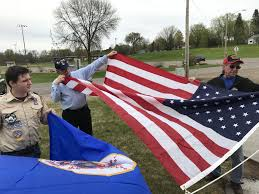 Eagle Scout Flag Eagle Scout Project Flies Proud In Milaca Local News