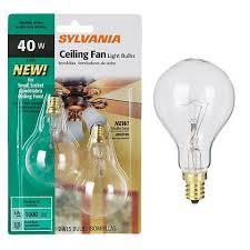 ceiling fan light base candelabra base a15 2 pack 40 watt clear ceiling fan bulbs 34907