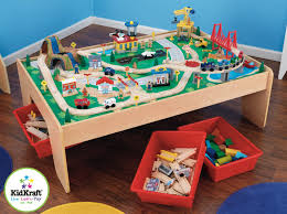 table top train set kidkraft waterfall mountain train set and table review summary