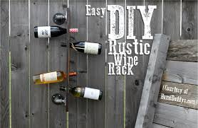 how to make a rustic vertical wine rack the borrowed abodethe