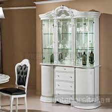 3 Door Display Cabinet Beautiful Prestige Venice White With Crystals Italian 3 Door