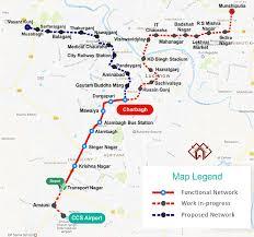 Metrorail Map Lucknow Metro Train Route Map Lucknow Metro Rail