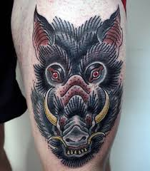 60 boar tattoo designs for men virulent animal ink ideas