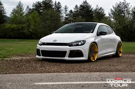 volkswagen scirocco r turbo vw scirocco r slammed on vossen wheels autoevolution