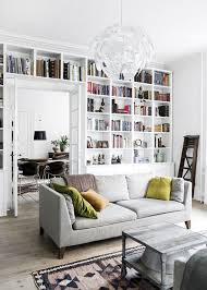 Modern Home Library Design For Casual Look Home Design And - Design home library