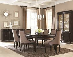 Contemporary Dining Room Pleasant  Contemporary Dark Mahogany - Mahogany dining room sets