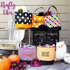 personalized halloween treat bags personalized halloween buckets jane