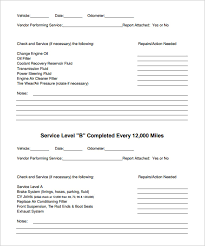 car report template exles vehicle maintenance schedule templates 9 free word excel pdf