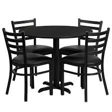 Restaurant Table Chair Set 36 Round Table 4 Chairs