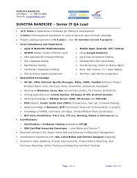 Qa Engineer Resume Example by Qa Lead Resume Contegri Com
