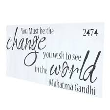 aliexpress com buy the proverbs of gandhi you must be change