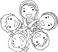 friends coloring wecoloringpage