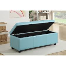Aqua Storage Ottoman Aqua Leather Storage Ottoman Blue Stash Cocktail Coffee