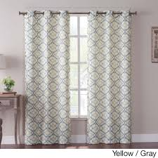 vcny tanjiers ikat grommet 84 inch curtain panel pair by vcny