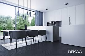 an awesome black and white modern dining room designs which