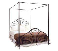queen canopy bed hillsdale house dover queen canopy bed with rails page 1 qvc com