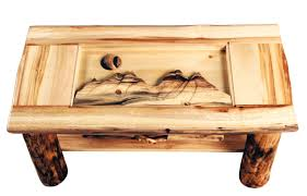 Wooden Coffee Table With Drawers Aspen Heirloom Shadow Box Coffee Table With Or Without Drawer
