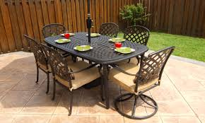 50 off hampton bay 7 pce millstone cast aluminum patio dining set