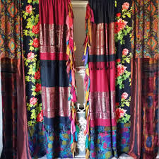 Hippie Curtains Boho Bohemian Curtains Drapes Panels From Hippiewild On Etsy