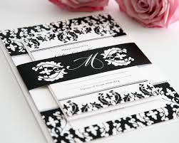 wedding invitations black and white black and white damask wedding invitations wedding invitations