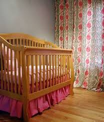 diy crib skirt instead of sewing to a flat sheet use ribbons