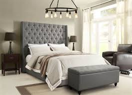 Tufted Bed Frame Park Avenue Tufted Bed In Gray 89 In L X 71