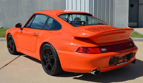 orange sports cars 1997 porsche 993 turbo andial 3 8