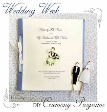 wedding programs diy diy wedding ceremony programs bugaboocity