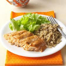 Home Dinner Ideas Salmon With Brown Sugar Glaze Recipe Taste Of Home